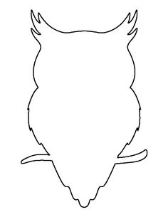 Owl pattern. Use the printable outline for crafts, creating stencils, scrapbooking, and more. Free PDF template to download and print at http://patternuniverse.com/download/owl-pattern/