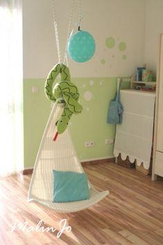 Kinderzimmer 'Green Room' Muster an Wand