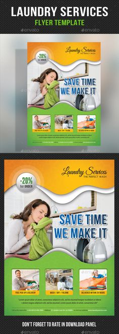 Laundry Flyer Template | Pinterest | Flyer template, Laundry and ...
