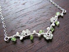 Diamond Tree of Life Necklace Branch GENUINE by HomeBabyCrafts