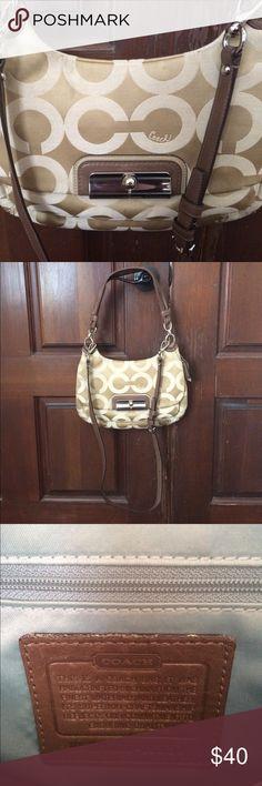 Coach Kristin OP ART Sateen Leather Shoulder Bag This is a beautiful 17386e4baf0f1