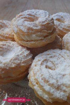 Vanilkové venčeky z odpaľovaného cesta - Sisters Bakery Shabby Chic Crafts, Cookie Recipes, Bakery, Muffin, Food And Drink, Sweets, Bread, Cookies, Breakfast