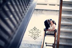 Bride and groom staircase photo. Groom, Wedding Photography, Bride, Learning, Wedding Bride, Bridal, Studying, The Bride, Wedding Photos