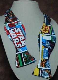 Star Wars Comic bow tie by Abandoned Warehouse on Etsy Abandoned Warehouse, Star Wars Comics, For Stars, Bow Ties, Star Trek, Bows, My Style, Creative, Handmade