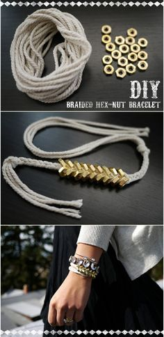 Braided Hex Nut Bracelet