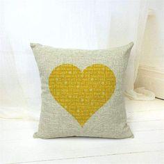 2015 New Linen LOVE Print Cushion Home Sofa Car Decorative Pillow Decor Pillow