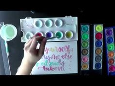 Watch Me Write: Brush Calligraphy and Lettering with Watercolor - YouTube