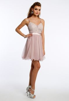 Metallic Lace and Mesh Party Dress- Gianna