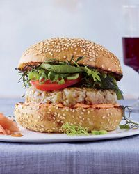 Sounds really good! Spicy Tuna Burgers with Soy Glaze Recipe on Food & Wine