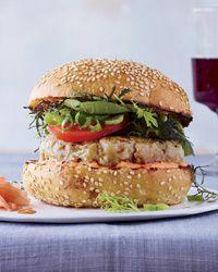 Spicy Tuna Burgers with Soy Glaze Recipe on Food & Wine