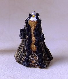 1 48 Quarter Scale Black Gold Venetian Gown on Mannequin by Miss Amelia OOAK   eBay 2 bids won at $49.99