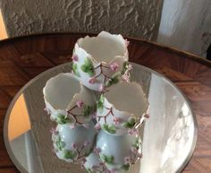 Antique hand-painted porcelain egg  vase by LADYG99 on Etsy