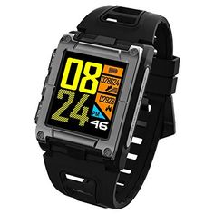 ZM&M Bluetooth Smartwatch GPS Watch Compass Smart Watch Waterproof Watch Bluetooth Swimming Heart Men's Sports Watch Track,Black Sport Watches, Watches For Men, Fitness Trackers For Women, Smartwatch Waterproof, Professional Swimming, Swimming Strokes, Monitor, Best Smart Watches, Bluetooth