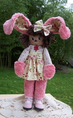 PatternMart.com ::. PatternMart: Annie Rose Bud Bunny Easter #224 Doll Pattern PM
