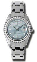 Women watches: Rolex Day-Date Masterpiece Ice Blue Automatic Platinum Pearl Master Ladies Watch Stylish Watches, Casual Watches, Luxury Watches For Men, Cool Watches, Rolex Watches, Diamond Watches, Unique Watches, Wrist Watches, Rolex Day Date