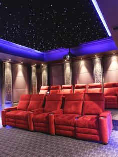 Looking for Living Space and Home Theater ideas? Browse Living Space and Home Theater images for decor, layout, furniture, and storage inspiration from HGTV. Home Cinema Room, Home Theater Setup, Best Home Theater, At Home Movie Theater, Home Theater Speakers, Home Theater Rooms, Home Theater Projectors, Home Theater Seating, Home Theater Design
