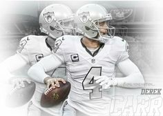 Derek Carr  in the throw back uniform! He's the man!! Go Raider Nation!