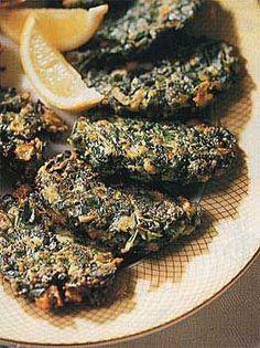 Cinnamon-Spiced Swiss Chard Pancakes #foods #recipes