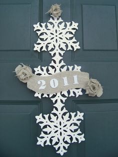New Years door decor (for the in-between time of decorating for Christmas and Valentine's Day!)
