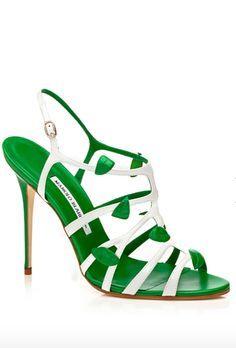 Manolo Blahnik - Shoes More - 2014 Spring-Summer Pretty Shoes, Beautiful Shoes, Manolo Blahnik Heels, Louboutin, Green Shoes, Pumps, Stilettos, Miu Miu, Jimmy Choo