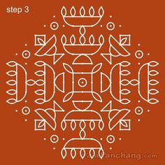 This page provides Diwali Rangoli Designs with title Diwali Rangoli 25 for Hindu festivals. Indian Rangoli Designs, Rangoli Designs Flower, Rangoli Patterns, Small Rangoli Design, Rangoli Ideas, Rangoli Designs With Dots, Beautiful Rangoli Designs, Lotus Rangoli, Peacock Rangoli