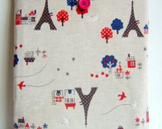 love this fabric! Ipad cover cozy sleeve padded japanese eiffel tower fabric fits all ipad 1 2 3 4