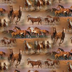 "Horses In The Field Quilting Cotton Fabric By The Yard, 44"" - Walmart.com"