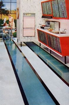 Klear Kitchen Floor - 1958