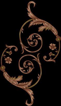 Floral Print Background, Floral Prints, Art Nouveau Illustration, Baroque Decor, Baroque Pattern, Beautiful Flowers Wallpapers, Flower Wallpaper, Geometric Art, Purple Gold