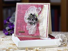 elegant card, aniversary scrapbooking
