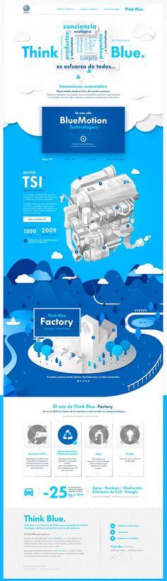 Volkswagen - Think Blue. Website on Behance: