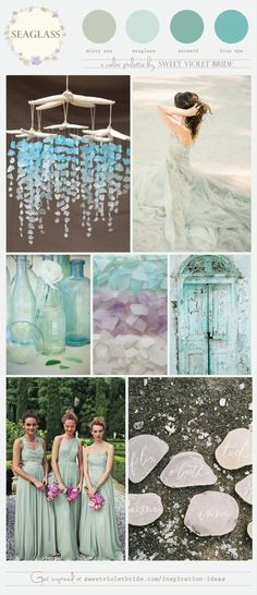 seaglass blue wedding color inspiration