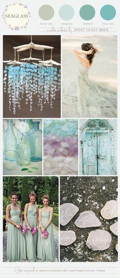 seaglass blue wedding color inspiration
