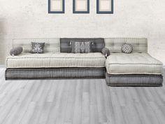 Canapé modulable en tissu CHASE - Gris clair et anthracite Sofa Design, Furniture Design, Interior Design, Sofas Vintage, 1 Bedroom Flat, Floor Seating, Living Room Tv, Floor Cushions, Home Office