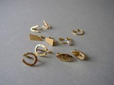 【真鍮】ミニマル /イヤリング|イヤリング|ハンドメイド通販・販売のCreema