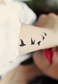 Birds Tattoo. I love the placement!