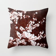 Paula Belle Flores - Cherry Blossoms Cushion Cover