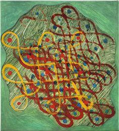 Philip Taaffe, Rangavalli Painting H, 2014, Mixed media on canvas, 46,3 x 41,9 cm