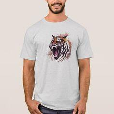 Tiger Mens Basic T-Shirt - holidays diy custom design cyo holiday family