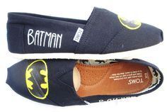 Leigh, why are we not buying shoes and making our own designs?  You can be batman, and I can have quotes on mine!!