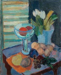 Tove Jansson, Still Life with Fruit and Tulips.
