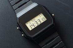 Casio Watch - Modded Black Watchface — Are. Nerd Chic, Casio Watch, Digital Watch, Watches, Club, Retro, Clothes, Style, Fancy Watches