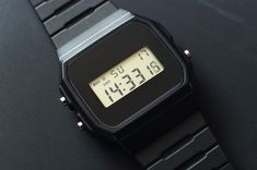 Casio Watch - Modded Black Watchface — Are. Nerd Chic, Casio Watch, Digital Watch, Watches, Club, Retro, Clothes, Style, Stylish Watches