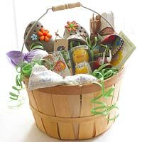 What to Put in Easter Baskets.  Thought this was cute, but different.  Cute country easter basket from Better Homes and Gardens.