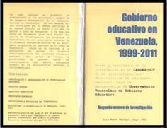 CD-095  BRAVO JÁUREGUI, Luis  Gobierno Educativo en Venezuela  Bases y resultados de la instalación en el CENDES -UCV de un Observatorio  del desarrollo de la Educación Nacional, bajo la denominación de Observatorio  Venezolano de Gobierno Electrónico.  Mayo 2011