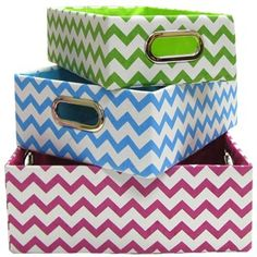 Rev up your storage with this fun and funky chevron box set. | Shop Hobby Lobby