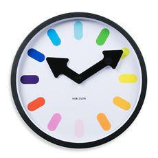 Present Time Karlsson Pictogram Rainbow Clock - Bed Bath & Beyond