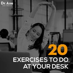 20 Exercises to Do at Your Desk — Get Fit at Work?If you are sitting down and reading this article right now, you should stop! Okay, well don't stop reading, but you might want to stand up to finish. Exercise At Your Desk, Office Exercise, Office Workouts, Fitness Tips, Fitness Motivation, Health Fitness, Desk Workout, Take The Stairs, Boost Your Metabolism