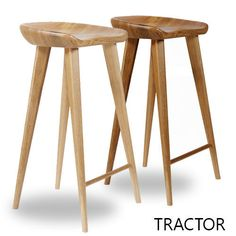Modern Home Tractor Contemporary Carved Wood Barstool (Set of (Natural - Natural Finish), Brown Wood Counter Stools, Wooden Bar Stools, Kitchen Stools, Bar Counter, Furniture Deals, Bar Furniture, Furniture Outlet, Online Furniture, Plywood Furniture