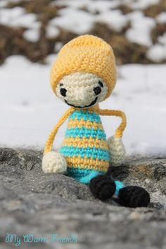 Amigurumi funny Boy   Crochet doll  Stuffed Boy  by MyWarmFriends, €15.00